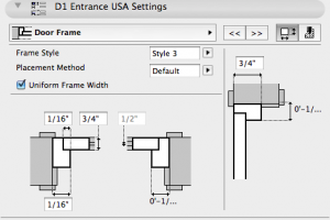 door frame settings