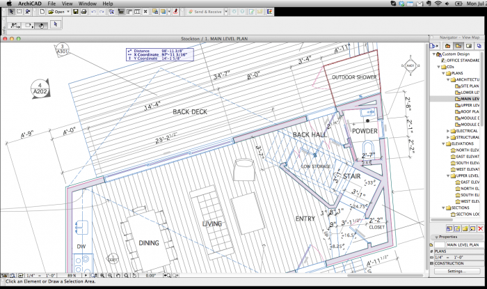 A clean, simple Work Environment great for when your boss needs to run ArchiCAD in a meeting