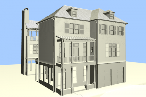 Monochromatic Model in ArchiCAD